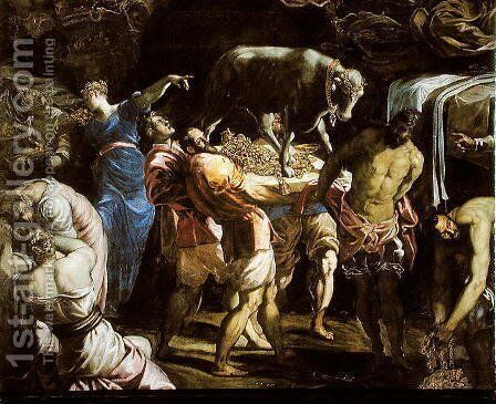 Adoration of the Golden Calf, 1546 by Jacopo Tintoretto (Robusti) - Reproduction Oil Painting