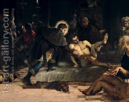 Saint Roch curing the Plague, c.1560 by Jacopo Tintoretto (Robusti) - Reproduction Oil Painting