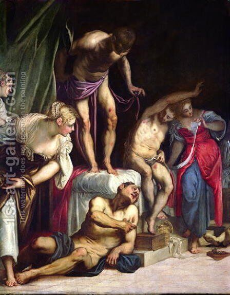Saint Roch curing the Plague, c.1560 2 by Jacopo Tintoretto (Robusti) - Reproduction Oil Painting