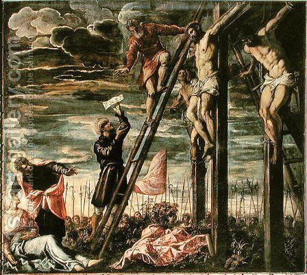 Crucifixion by Jacopo Tintoretto (Robusti) - Reproduction Oil Painting