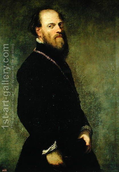 The Man with the Gold Chain, c.1550 by Jacopo Tintoretto (Robusti) - Reproduction Oil Painting