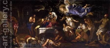 St. Roch Visited by an Angel in Prison, 1567 by Jacopo Tintoretto (Robusti) - Reproduction Oil Painting