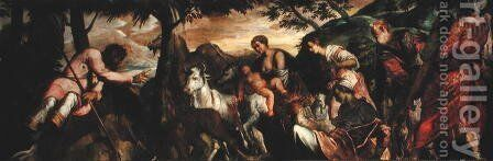 St. Roch and the Beasts of the Field, 1567 by Jacopo Tintoretto (Robusti) - Reproduction Oil Painting