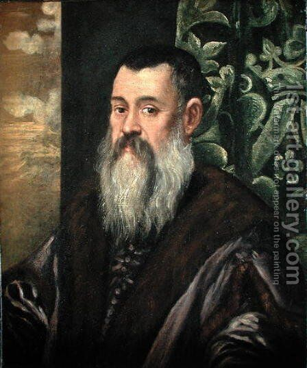 Portrait of a Venetian Senator by Jacopo Tintoretto (Robusti) - Reproduction Oil Painting