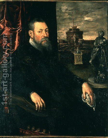 Portrait of Collector, 1560-65 by Jacopo Tintoretto (Robusti) - Reproduction Oil Painting