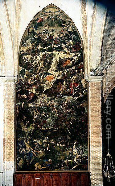 The Last Judgement, before 1562 by Jacopo Tintoretto (Robusti) - Reproduction Oil Painting