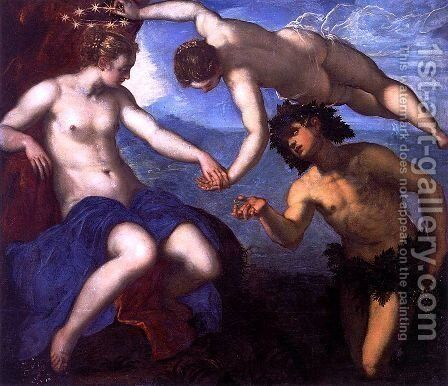 The Discovery of Ariadne, 1578 by Jacopo Tintoretto (Robusti) - Reproduction Oil Painting