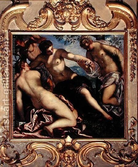 Mercury and the Three Graces, 1578 by Jacopo Tintoretto (Robusti) - Reproduction Oil Painting