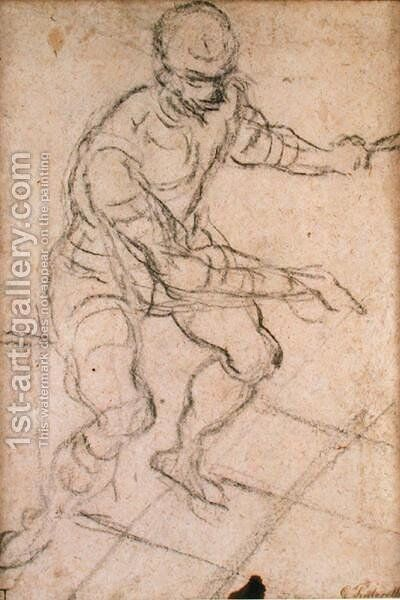 Seated Man seen from Above by Jacopo Tintoretto (Robusti) - Reproduction Oil Painting