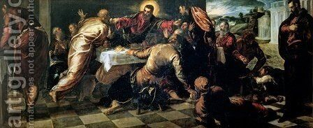 The Supper at Emmaus by Jacopo Tintoretto (Robusti) - Reproduction Oil Painting