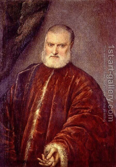 Portrait of Antonio Cappello by Jacopo Tintoretto (Robusti) - Reproduction Oil Painting
