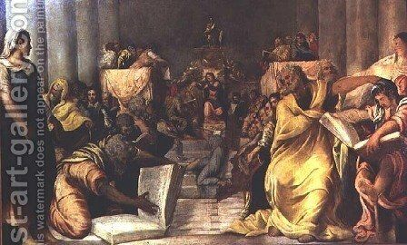 Christ Among the Doctors, early 1540s by Jacopo Tintoretto (Robusti) - Reproduction Oil Painting