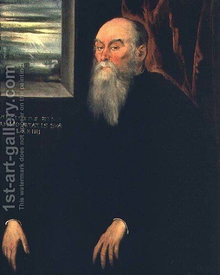 Portrait of Vincenzo Zeno by Jacopo Tintoretto (Robusti) - Reproduction Oil Painting