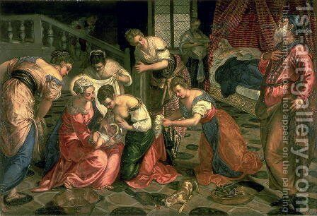 The Birth of St. John the Baptist, 1550-59 by Jacopo Tintoretto (Robusti) - Reproduction Oil Painting