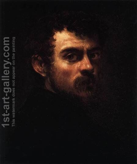 Self Portrait by Jacopo Tintoretto (Robusti) - Reproduction Oil Painting