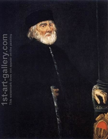 Portrait of the Procurator Nicolo Priuli by Jacopo Tintoretto (Robusti) - Reproduction Oil Painting