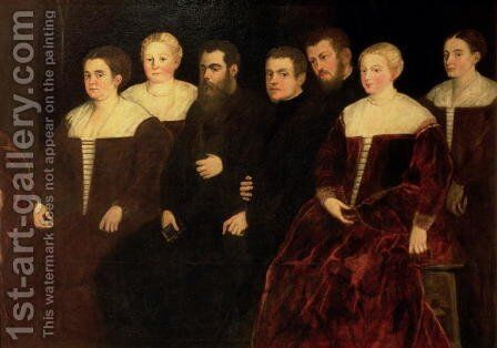 Seven members of the Soranzo Family by Jacopo Tintoretto (Robusti) - Reproduction Oil Painting