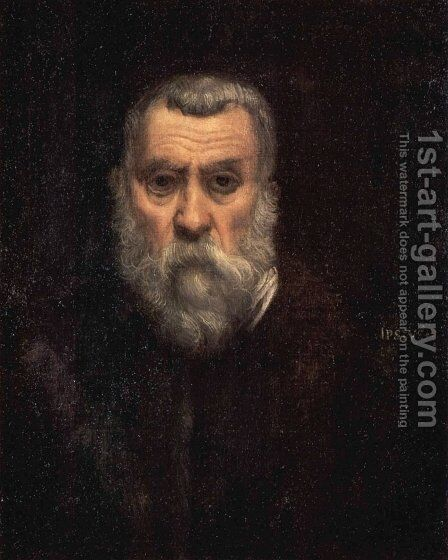 Self Portrait 2 by Jacopo Tintoretto (Robusti) - Reproduction Oil Painting
