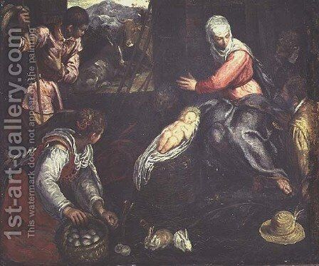 The Adoration of the Shepherds, c.1578 by Jacopo Tintoretto (Robusti) - Reproduction Oil Painting