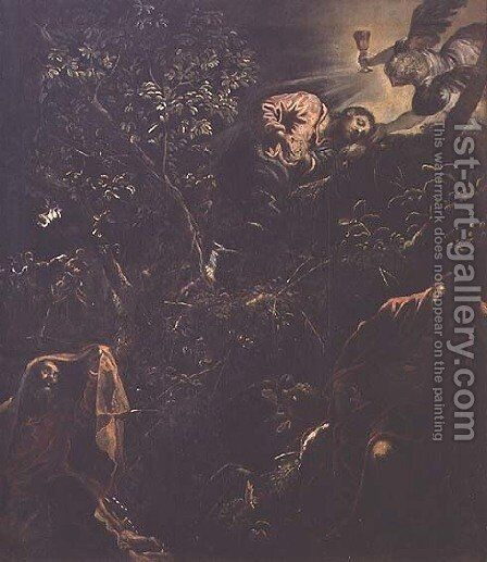 Christ in the Garden of Gethsemane by Jacopo Tintoretto (Robusti) - Reproduction Oil Painting