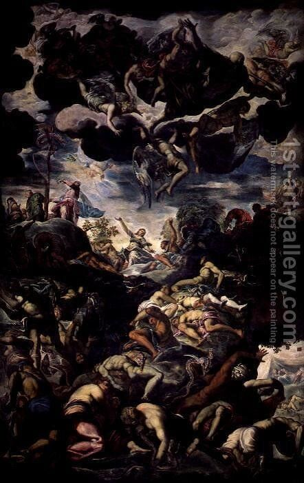 The Fall of Man by Jacopo Tintoretto (Robusti) - Reproduction Oil Painting