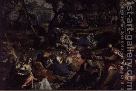 The Miraculous Fall of Manna by Jacopo Tintoretto (Robusti) - Reproduction Oil Painting