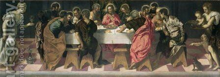The Last Supper 3 by Jacopo Tintoretto (Robusti) - Reproduction Oil Painting