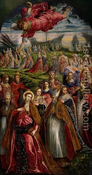 St. Ursula and the Eleven Thousand Virgins 2 by Jacopo Tintoretto (Robusti) - Reproduction Oil Painting