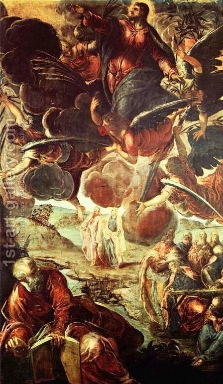 The Ascension of Christ by Jacopo Tintoretto (Robusti) - Reproduction Oil Painting
