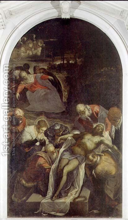 Deposition by Jacopo Tintoretto (Robusti) - Reproduction Oil Painting