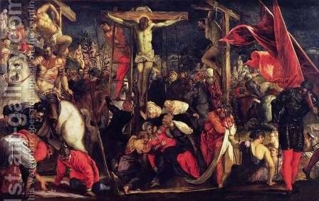 The Crucifixion by Jacopo Tintoretto (Robusti) - Reproduction Oil Painting