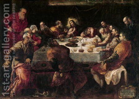 The Last Supper 6 by Jacopo Tintoretto (Robusti) - Reproduction Oil Painting