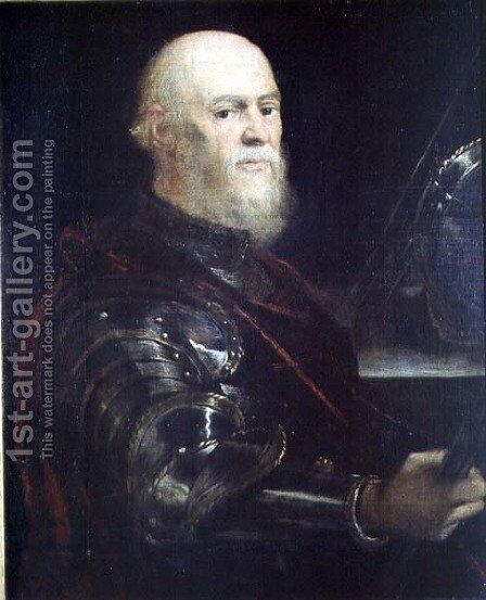 Venetian General, 1570-75 by Jacopo Tintoretto (Robusti) - Reproduction Oil Painting