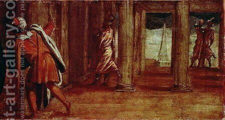 The Prostration of Bathsheba, c.1548 by Jacopo Tintoretto (Robusti) - Reproduction Oil Painting