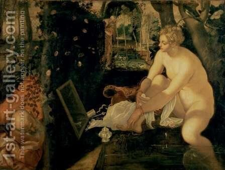 Susanna Bathing, 1555-56 by Jacopo Tintoretto (Robusti) - Reproduction Oil Painting