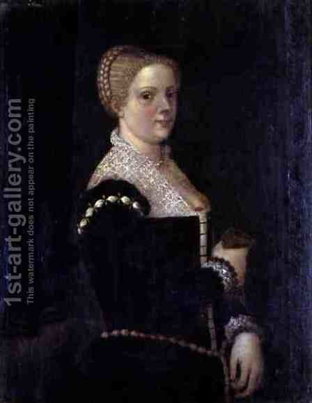 Self Portrait of the Artist by Marietta Robusti Tintoretto - Reproduction Oil Painting