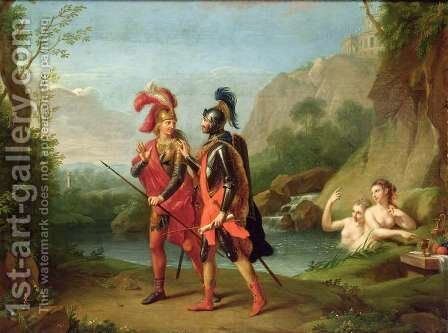 Carlo and Ubaldo by the Water Nymphs, 1782 by Johann Heinrich The Elder Tischbein - Reproduction Oil Painting