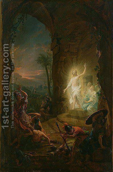 The Resurrection, 1763 by Johann Heinrich The Elder Tischbein - Reproduction Oil Painting