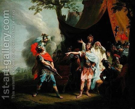 Achilles has a dispute with Agamemnon, 1776 by Johann Heinrich The Elder Tischbein - Reproduction Oil Painting