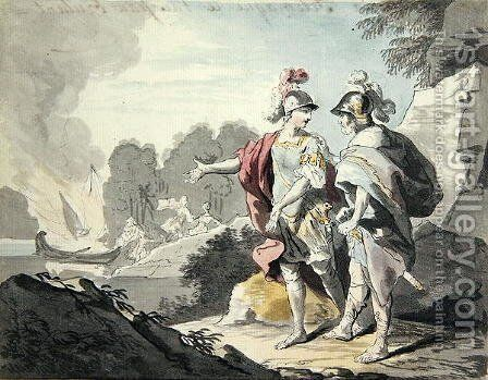 Nestor Shows Telemachus the Ship by Johann Heinrich The Elder Tischbein - Reproduction Oil Painting