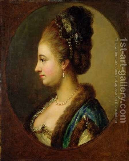 Philippine Amalie, Countess of Hessen-Kassel by Johann Heinrich Wilhelm Tischbein - Reproduction Oil Painting