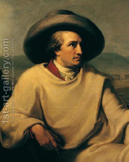 Johann Wolfgang von Goethe 1749-1832 in the Campagna, c.1790 by Johann Heinrich Wilhelm Tischbein - Reproduction Oil Painting