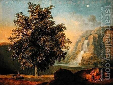 Landscape at Tivoli by Johann Heinrich Wilhelm Tischbein - Reproduction Oil Painting