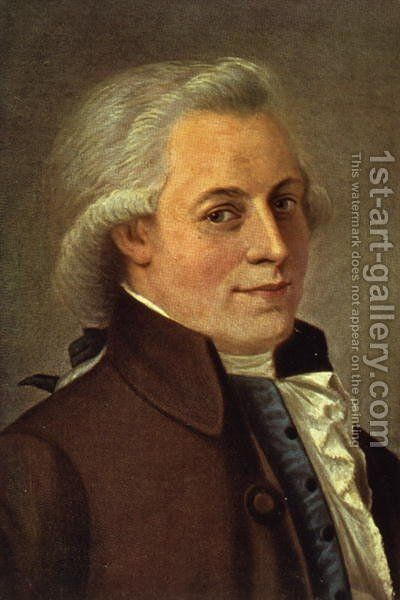 Portrait of Wolfgang Amadeus Mozart 1756-91, Austrian composer by Johann Heinrich Wilhelm Tischbein - Reproduction Oil Painting