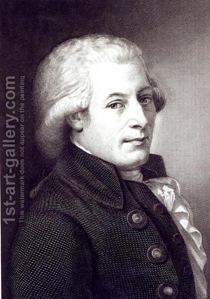 Portrait of Wolfgang Amadeus Mozart 1756-91 Austrian composer, engraved by Lazarus Gottlieb Sichling 1812-63 by Johann Heinrich Wilhelm Tischbein - Reproduction Oil Painting