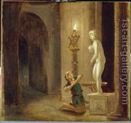 Pygmalion before the Statue of Venus, c.1800 by Johann Heinrich Wilhelm Tischbein - Reproduction Oil Painting