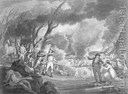 Battle of Lexington, April 19th 1775, engraved by Cornelius Tiebout c.1773-1832 by (after) Tisdale, Elkanah - Reproduction Oil Painting