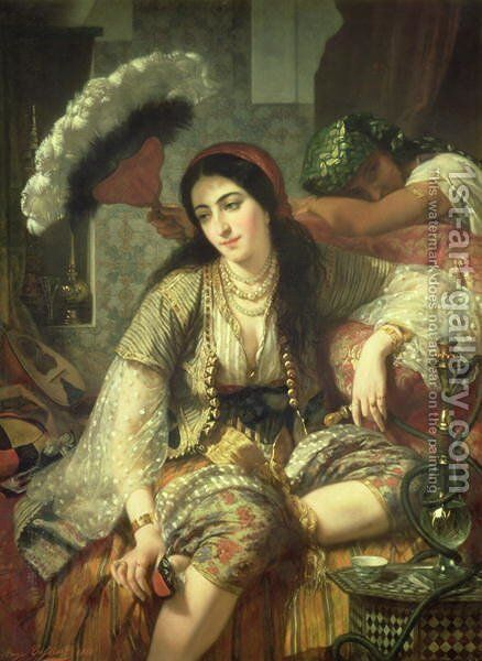 Odalisque by Jean Baptiste Ange Tissier - Reproduction Oil Painting