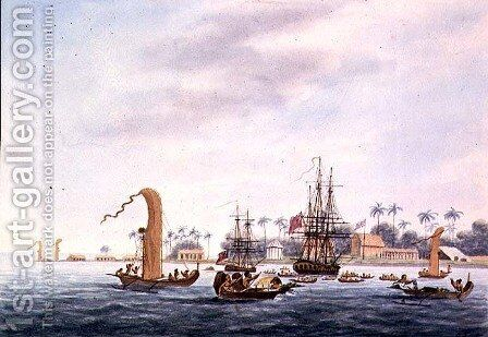 Point Venus, Island of Otahytey, 1792 by Captain George Tobin - Reproduction Oil Painting