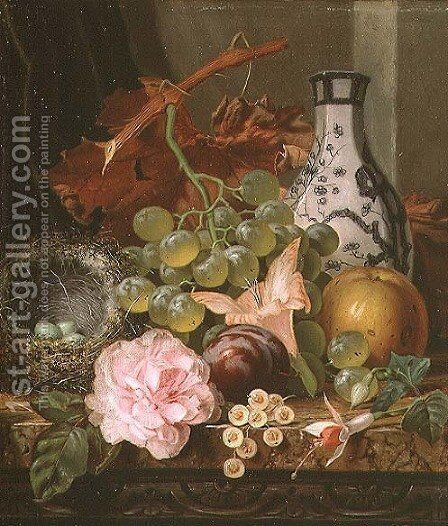 Still Life (detail) by Henry George Todd - Reproduction Oil Painting